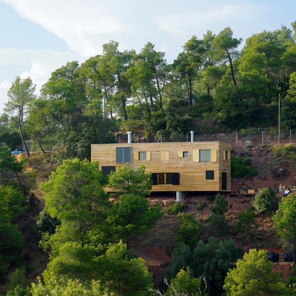 Ideas para construir tu casa en una montaña – casa en ladera en ...