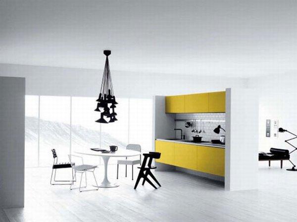 Diseños de cocina, con el color amarillo como distinción | Arkihome