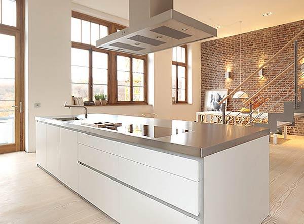 Cocina de estilo minimalista super blanco por bulthaup for Cocinas super modernas