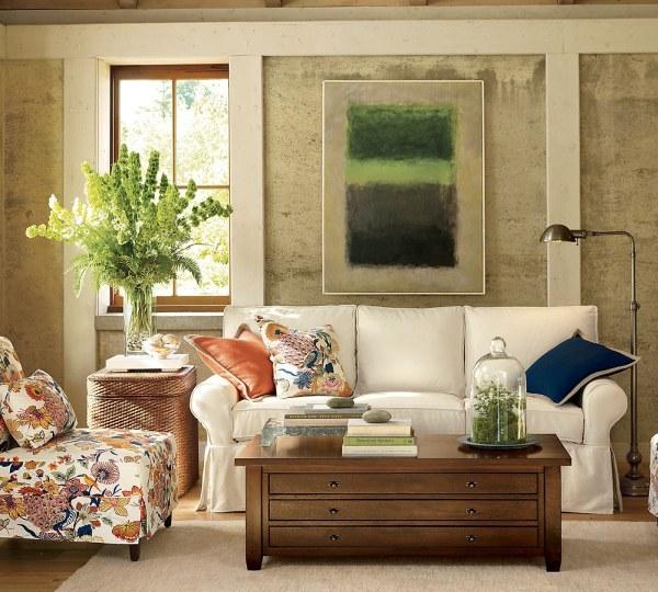 Sofás e ideas para salas de estar, por Pottery Barn | Arkihome