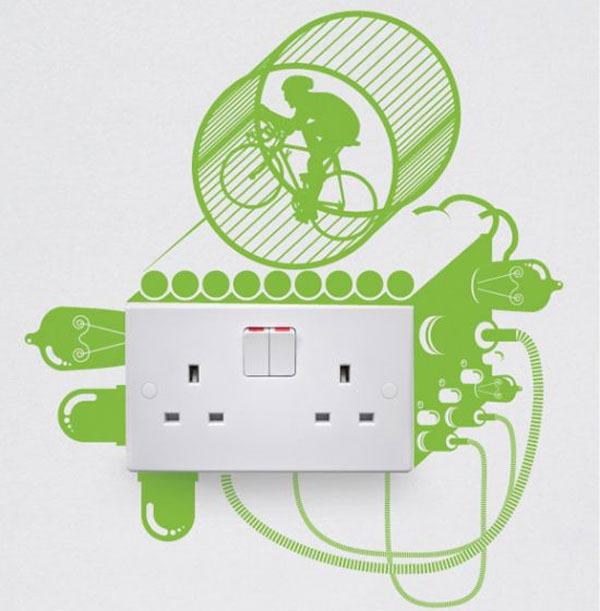 Stickers creativos para los interruptores de luz arkihome - Interruptores de diseno ...