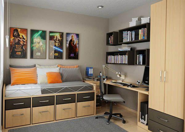 25 ideas de dise o de habitaciones para chicos for Disenos de cuartos para hombre