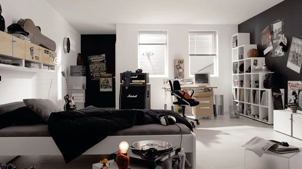 25 ideas de diseño de habitaciones para chicos adolescentes | Arkihome
