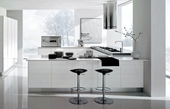 Cocina de color blanco arkihome - Cocinas espectaculares ...