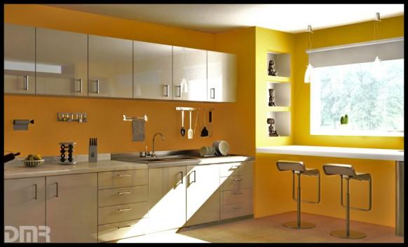 Cocina amarilla | Arkihome