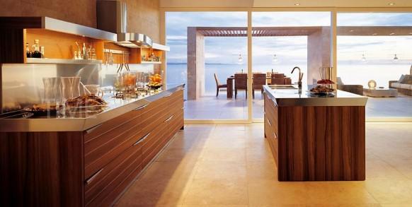 Cocinas color marron arkihome - Cocinas marrones ...