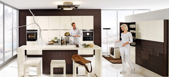 Cocinas color marron arkihome - Cocinas marrones ...