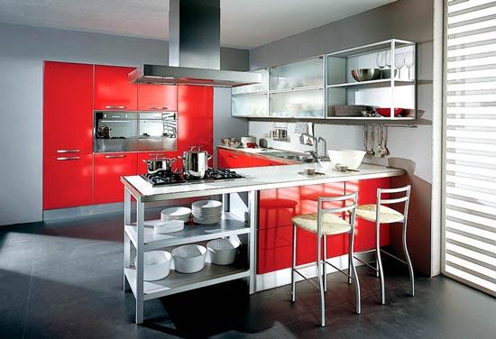 Cocinas color rojo arkihome - Cocinas color rojo ...