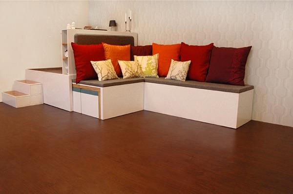 Conjunto de muebles port til arkihome for Acomodar muebles en espacios pequenos