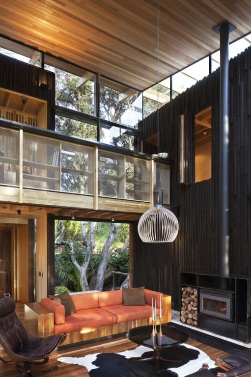Modelo De Casa Moderna De Madera Natural Arkihome