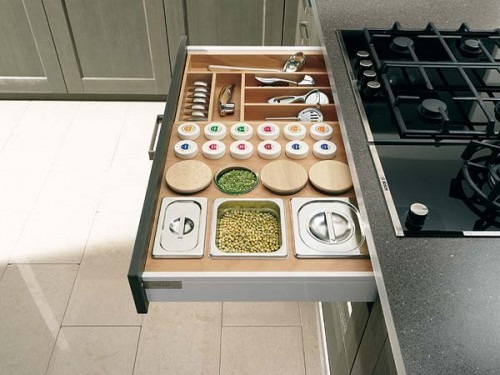 57 ideas pr cticas para la organizaci n del caj n de su - Cajoneras de cocina ...