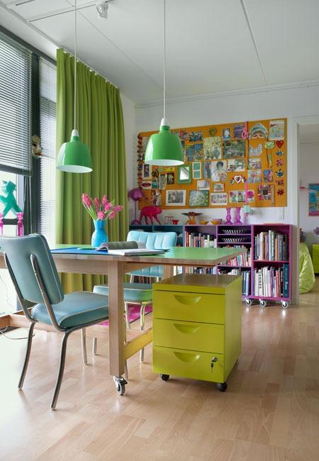 23 ideas brillantes y coloridas para su oficina por digs digs ...