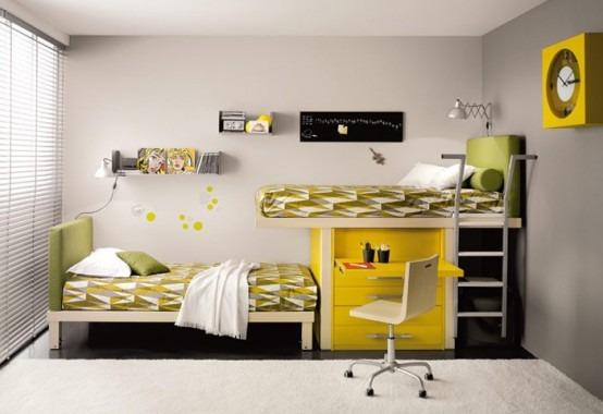 Habitaciones con camas dobles para ni os por tumidei - Camas dobles para ninos ...