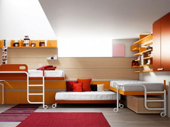 Muebles brillantes y ergon micos para la habitaci n de los adolescentes por battistella - Battistella mobili ...