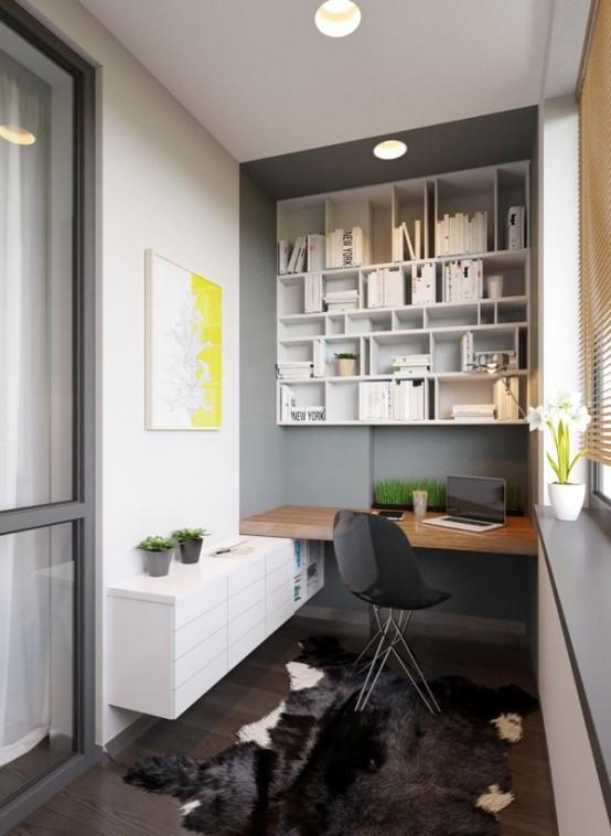 29 ideas de oficinas peque as dise adas en espacios for Espacios reducidos